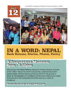 July 12 Nepal Flyer