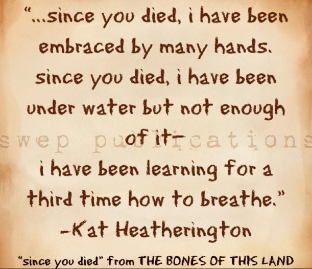since you died- kat heatherington