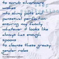 to scrub silverware- bassam